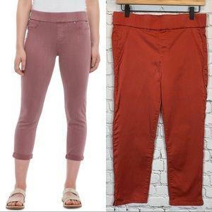 LIVERPOOL Pull-On Cropped Skinny Pants 6 Orange